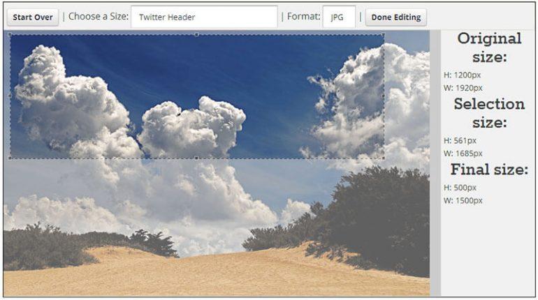 Công cụ tạo size hình ảnh online