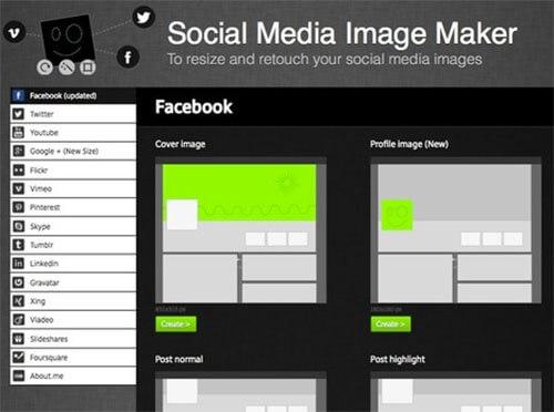 Công cụ tạo size hình ảnh online cho mạng xã hội