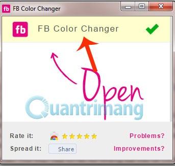 Đổi màu giao diện Facebook (2)