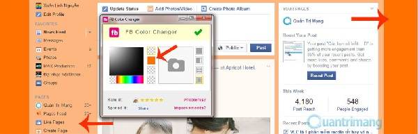 Đổi màu giao diện Facebook (4)