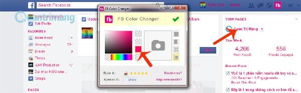 Đổi màu giao diện Facebook (5)