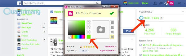 Đổi màu giao diện Facebook (6)