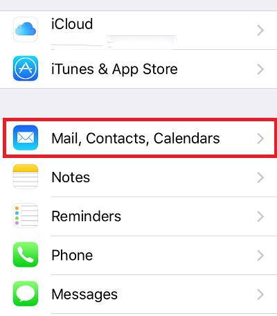 Đồng bộ Gmail với iPhone
