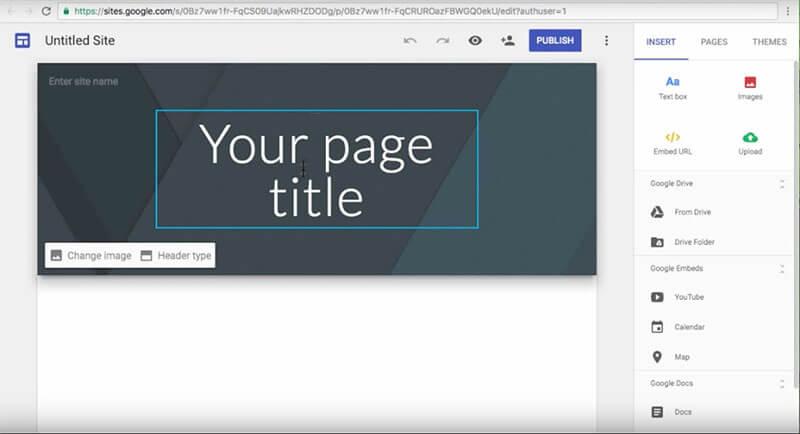 Tạo Website bằng Google Site