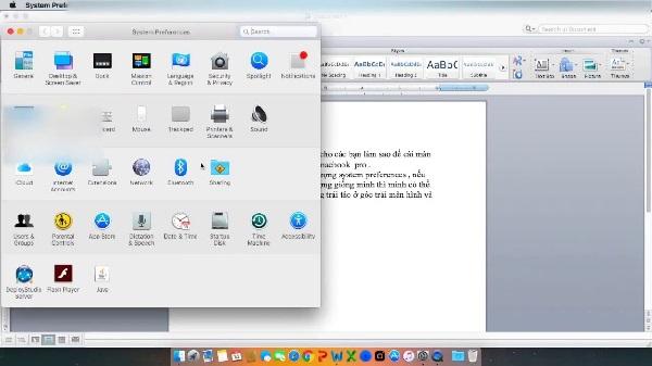 Hướng dẫn cài đặt máy in cho laptop Macbook Pro