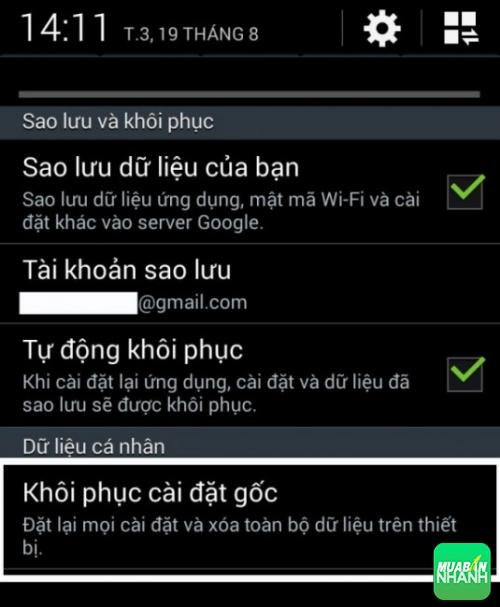 Sửa lỗi màn hình điện thoại bị xanh (3)