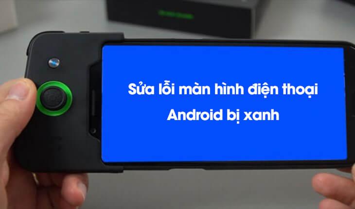 Màn hình điện thoại Android bị xanh