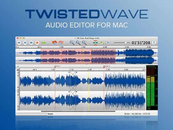 Phần mềm cắt nhạc online miễn phí TwistedWave.com