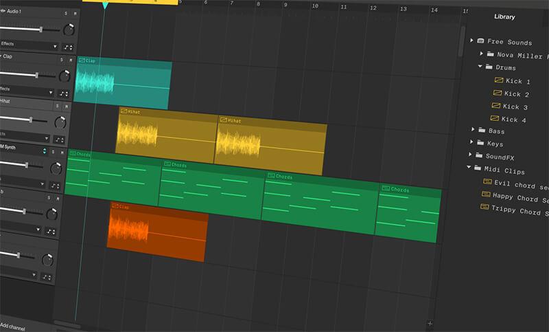 Phần mềm cắt nhạc miễn phí Soundation.com
