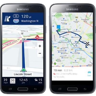 Samsung Here Maps