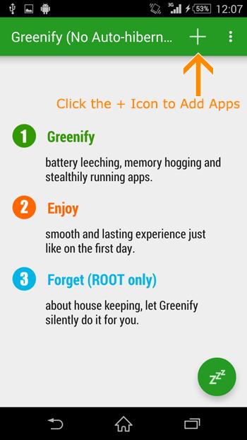 Kích hoạt chế độ ngủ đông cho ứng dụng