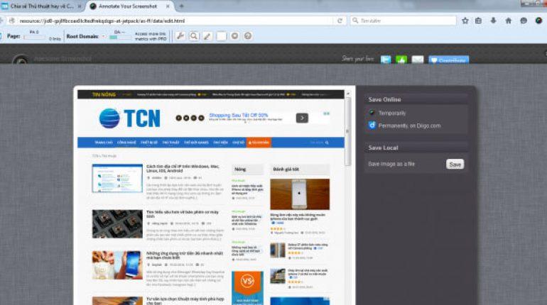 Ứng dụng chụp toàn cảnh trang web chuyên nghiệp