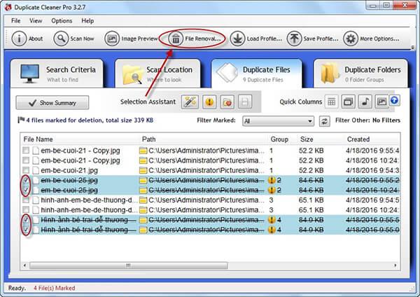 Phần mềm tìm ảnh trùng lặp trên máy tính (10)