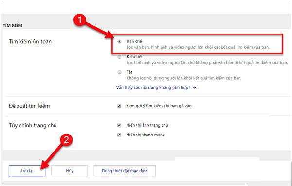 Chặn từ khóa tìm kiếm trên Bing (1)