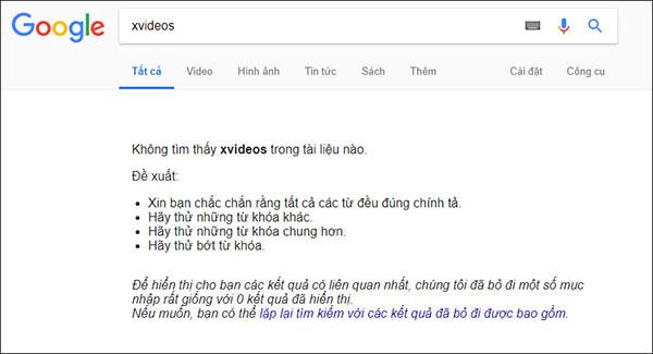 Chặn từ khóa tìm kiếm trên Bing (2)