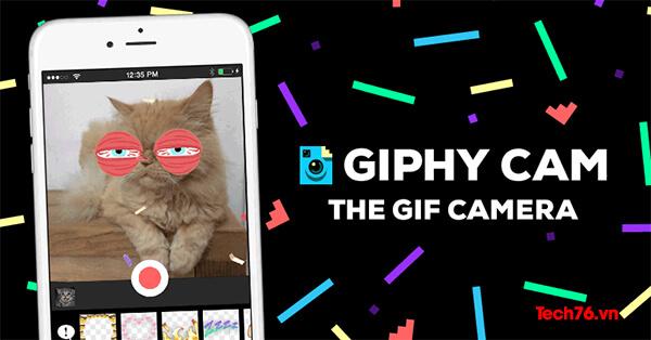 Giphy Cam quay và tạo video GIF trực tiếp
