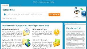 Dịch vụ lưu trữ đám mây Upfile.vn