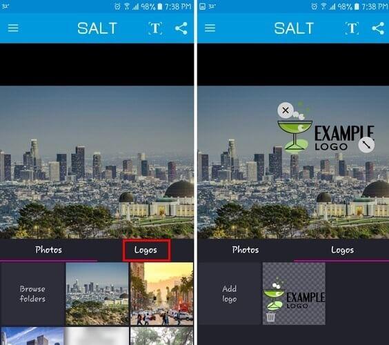 Ứng dụng chèn watermark cho ảnh Salt với giao diện đơn giản