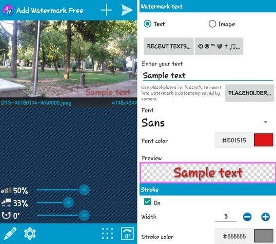 Ứng dụng Add Watermark Free trên điện thoại Android