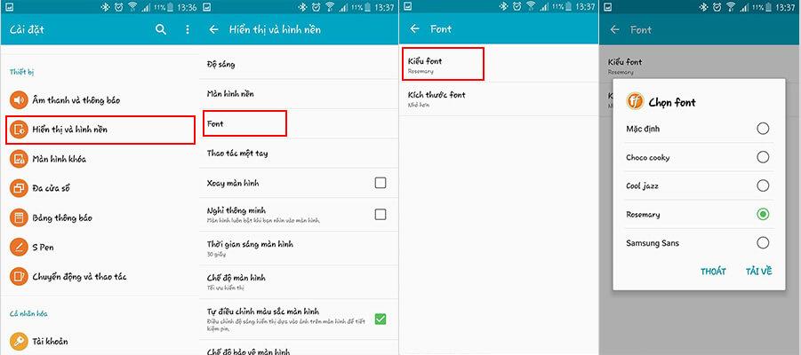 Hướng dẫn cách đổi font chữ trên Android