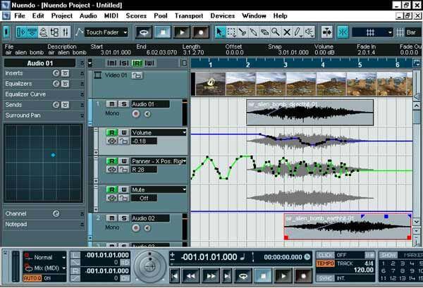 Phần mềm thu âm Nuendo