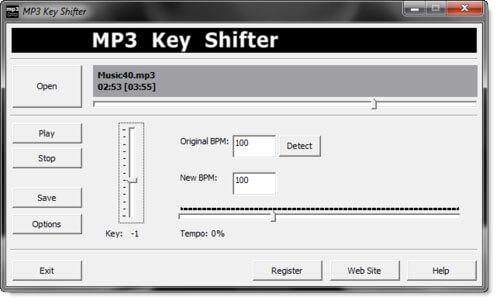 Phần mềm thu âm MP3 KeyShifter