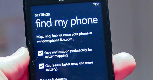 Tìm kiềm điện thoại Windows phone bị mất