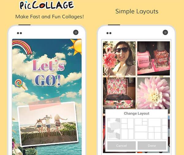 Ứng dụng ghép ảnh PicCollage trên iPhone với giao diện đẹp mắt