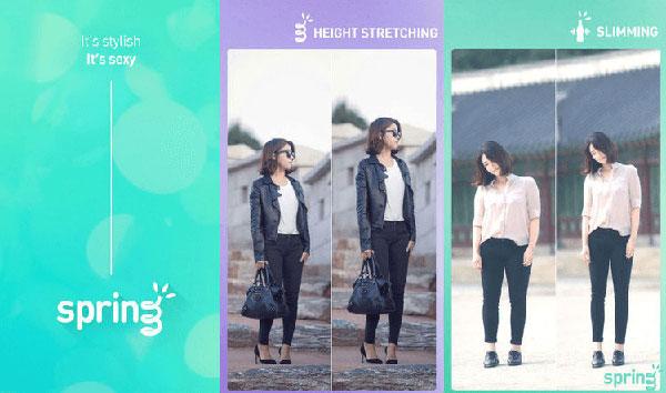 Ứng dụng chỉnh sửa ảnh Spring - Increase height