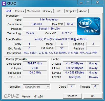 Phần mềm kiểm tra cấu hình CPU-Z