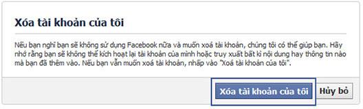 Hướng dẫn cách xóa tài khoản Facebok vĩnh viên