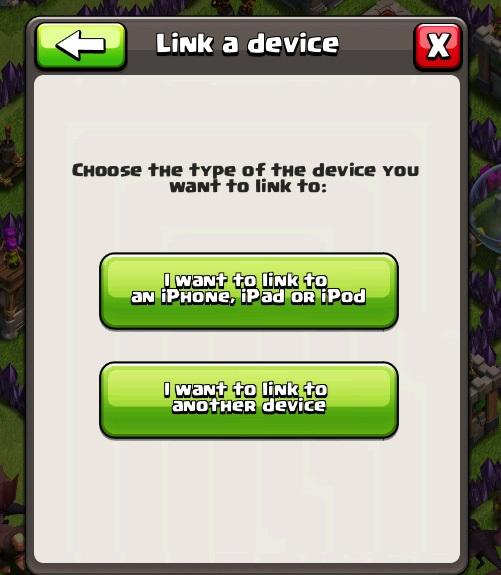 Chọn Link a device để liên kết 2 thiết bị