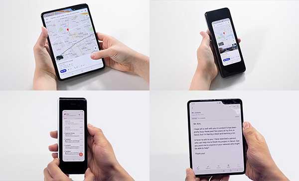 Samsung Galaxy Fold được trang bị tính năng chuyển đổi linh hoạt giữa hai màn hình