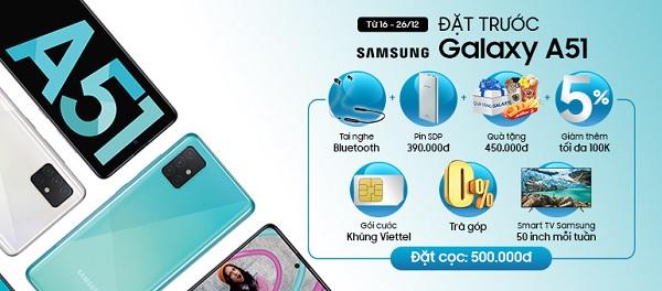 Giá bán Samsung Galaxy A51