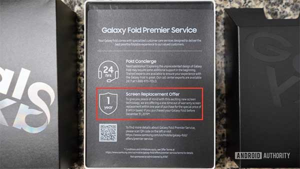 Samsung bổ sung chính sách bảo hành và ưu đãi khi mua Galaxy Fold