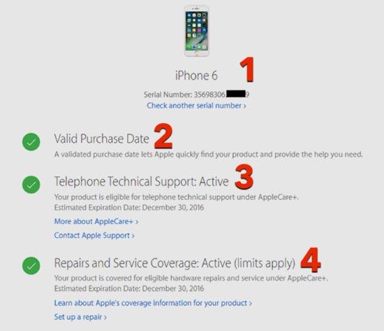 Kiểm tra thông tin iPhone qua iMei