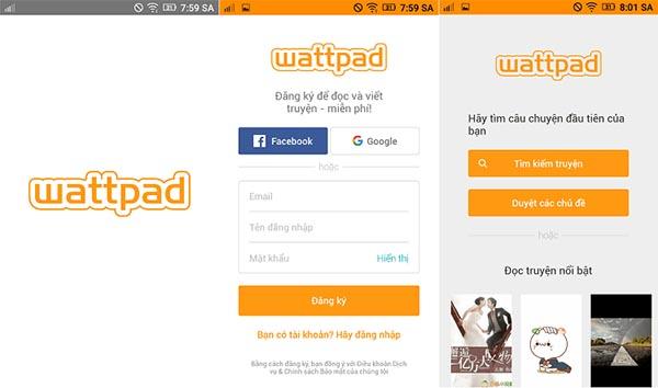 Ứng dụng Wattpad quen thuộc với những người yêu thích đọc sách