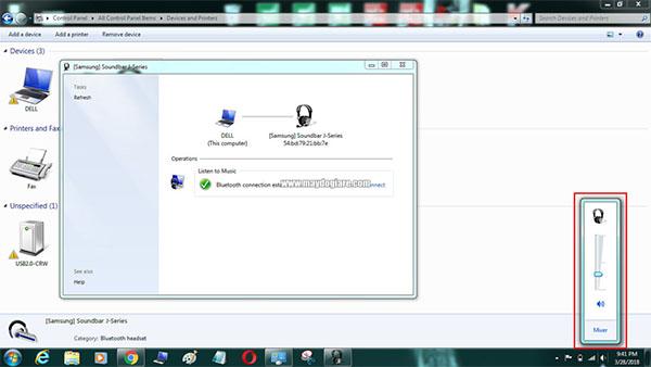 Kết nối với loa Bluetooth với máy tính Win 8