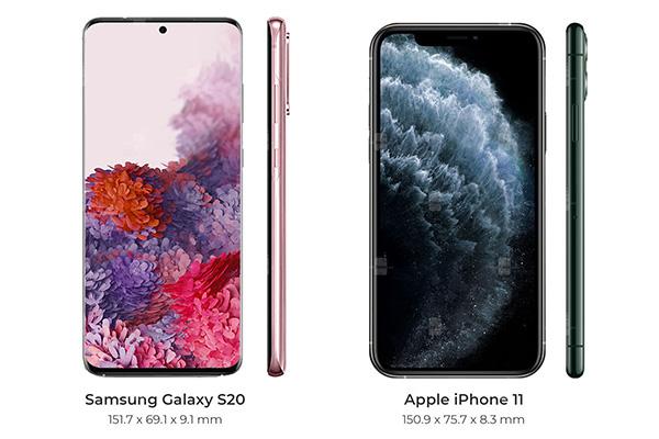 So sánh Galaxy S20 và iPhone 11 (1)