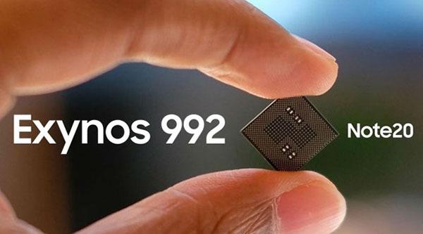 Galaxy Note 20 sẽ sử dụng chip Exynos 992