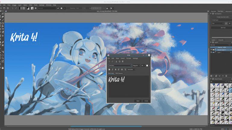 Phần mềm vẽ Krita được tạo bởi nhóm các họa sĩ chuyên nghiệp