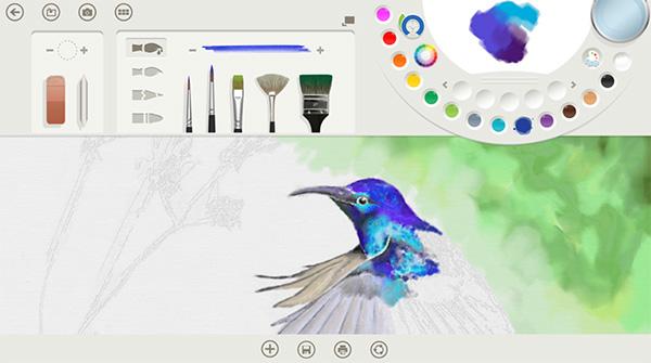 Ứng dụng vẽ Fresh Paint sở hữu giao diện thiết kế ấn tượng