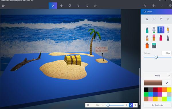 Microsoft Paint 3D với trang bị nút 3D Objects đa năng
