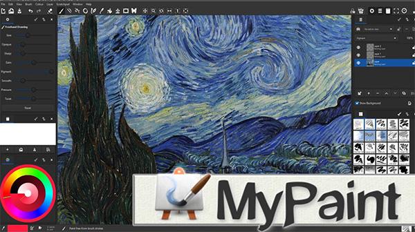 Ứng dụng MyPaint được phát triển bởi nghệ sĩ Martin Reynold