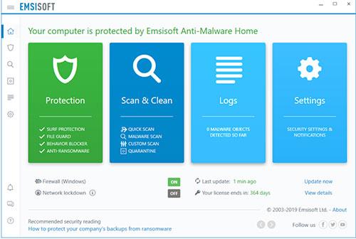 Phần mềm Emsisoft giúp diệt malware nhanh chóng