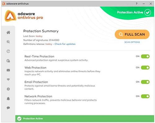 Phần mềm Adwar Antivirus Free là sự lựa chọn lý tưởng
