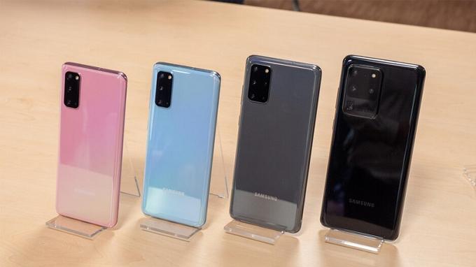 Samsung Galaxy S20 series có mấy màu