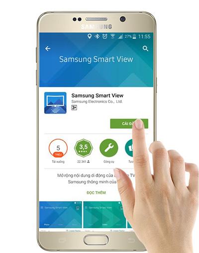 Cách dùng điện thoại điều khiển tivi Samsung