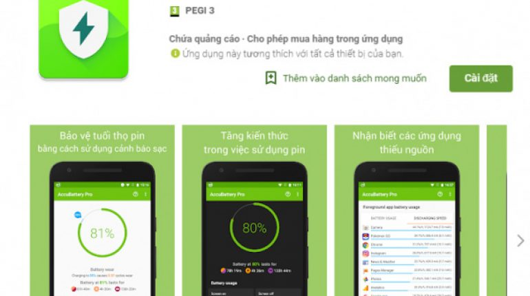 Kiểm tra chai pin Android bằng AccuBattery