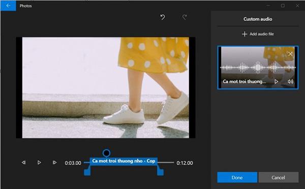 Cách ghép nhạc vào video trên máy tính Windows 10 (3)